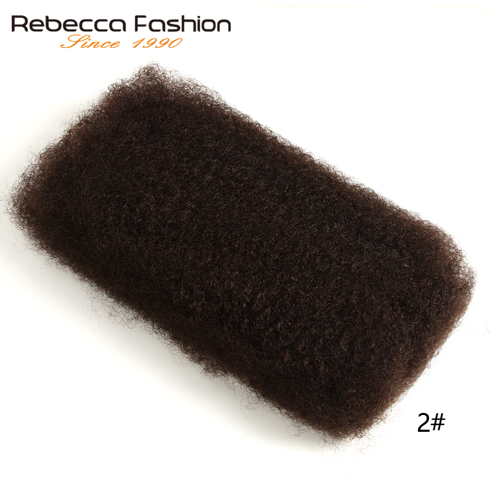 Rebecca Fashion Peurvian Non Remy Human Hair Afro Kinky Curly <font><b>Bulk</b></font> Extensions Braiding Hair Dreadlocks Crochet <font><b>Bulks</b></font> 50g Per PCS image