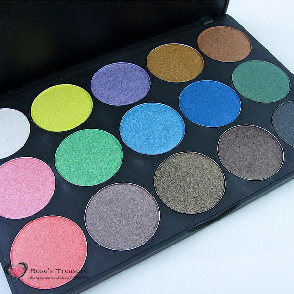 HOT 15 Ultra Shimmer Color Shining Mineral Makeup Preessed Powder Eye Shadow Eyeshadow Palette Pigment Set 35mm