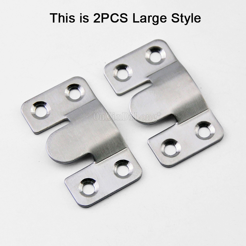 Wholesale 1000PCS Stainless Steel Furniture Sofa Photo Frame Interlock Bracket Joint Connector Hanging Hook in Brackets from Home Improvement