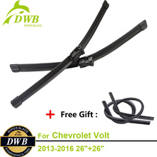 2PCS ECO Wiper Blades for Chevrolet Volt 2013-2016 26″+26″, Free 2Pcs Rubbers, Bracketless Wipers