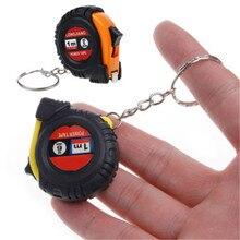 1 шт. креативная выдвижная лента-линейка для детей, измеряющая рост, брелок для ключей, мини-карман, тянущаяся Метрическая 1 м брелок для ключей, случайный цвет