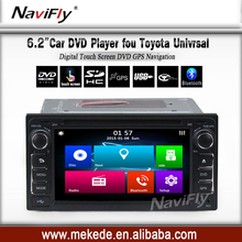 old Toyota model 2din Universal car dvd player gps navigator hot selling Win8 menu with bluetooth phone radio cassette
