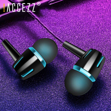 купить !ACCEZZ In-Ear Wired Earphone Stereo Bass Headset With Microphone 3.5mm Jack Earphones For iPhone 6 5S SE Samsung Xiaomi Huawei дешево