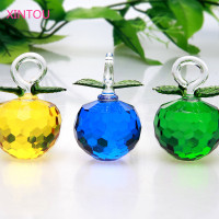 XINTOU Cheap Christmas Tree Hanging Crystal Glass Apples Ornaments 2017 New Year Sale Natal Toys Gifts