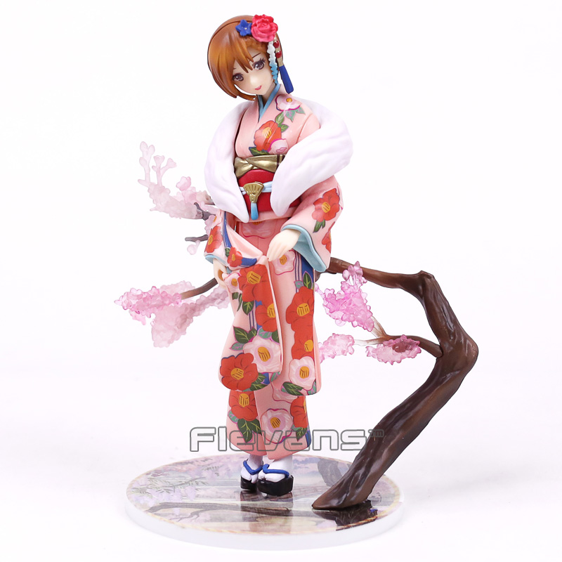 VOCALOID Meiko Kimono Ver. 1/8 Scale PVC Figure Collectible Model Toy 19cm 1 6 scale model metal gear solid v the phantom d dog diamond dog about 23cm collectible figure model toy gift