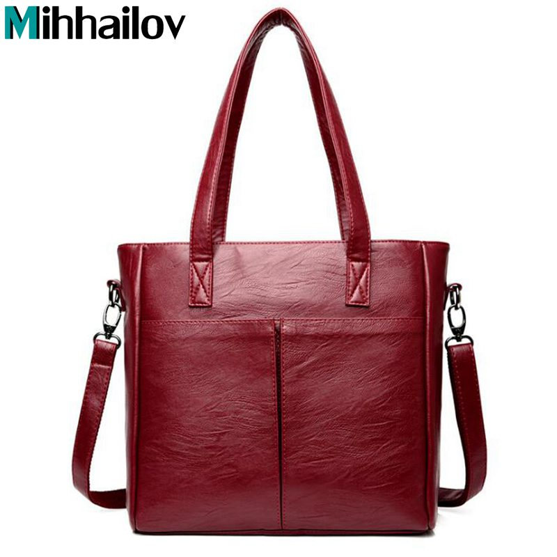 цены Luxury Handbags Women Bags Designer Leather Casual Tote Bag Femal Shoulder Bag High Quality Ladies Large Capacity Handbag XS-260