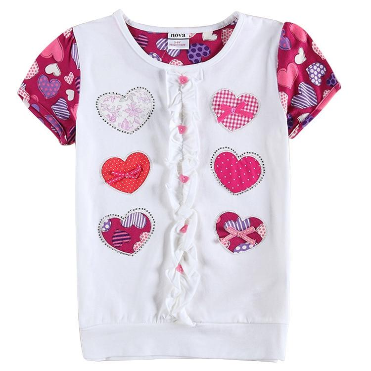 New summer nova brand cotton children clothing girls Girl t shirts design