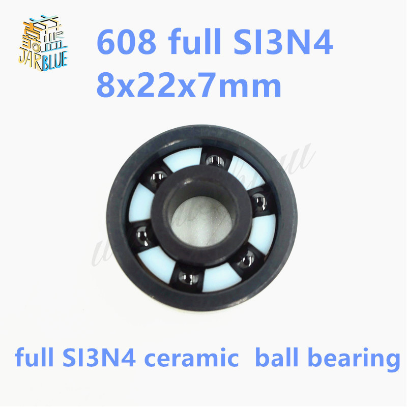 Free shipping 608 full SI3N4 ceramic deep groove ball bearing 8x22x7mm skatebord bearing free shipping 6901 61901 si3n4 full ceramic bearing ball bearing 12 24 6 mm