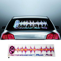 90 x 25CM LED Auto Sound Music Activated EL Car Stickers Multi Colour Light Flashing Music Rhythm Light For All Car Car Styling