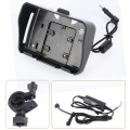 1 Set 4.3 Inch Moto GPS accessories,cradle holder+ power cable+ Bracket suitable for Fodsports Motorcycle Navigation