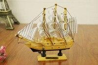 20 cm Handgemachte Schiff Handwerk Hölzernen Segelboot Segelschiff Holz Segelboot Modell Nautischen Dekoration Wohnkultur