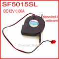 Frete Grátis 12 V 0.06A SANLY SF5015SL 50*50*15mm 2Pin Para Ultra Silencioso Umidificador de Refrigeração Turbo fã