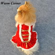 Warm Corner LM Christmas Dog Clothes Santa Doggy Costumes Clothing Pet Apparel New Design Free Shipping Sept 19