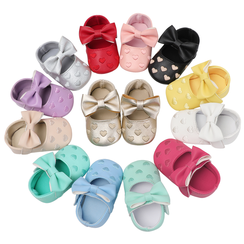 Baby Shoes Infant Booties Prewalker Soft Sole Anti-Slip Baby Booties Girl Toddler Moccasins First Walkers 0-18 Months