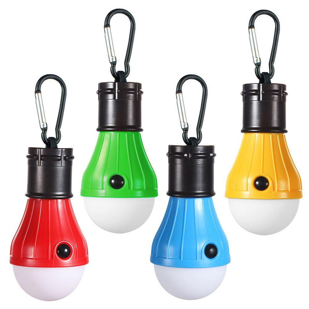 4 Colors Portable Hanging Tent Lamp Emergency LED Bulb Light Camping Lantern For Mountaineering Activities Backpacking