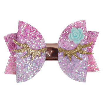 Princess Glitter Hair Bows For Girls