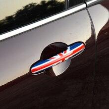 BMW MINI için F54 F55 F56 F57 F60 araba styling aksesuarları modifiye araba dış kapı kolu koruyucu kapak dekoratif sticker