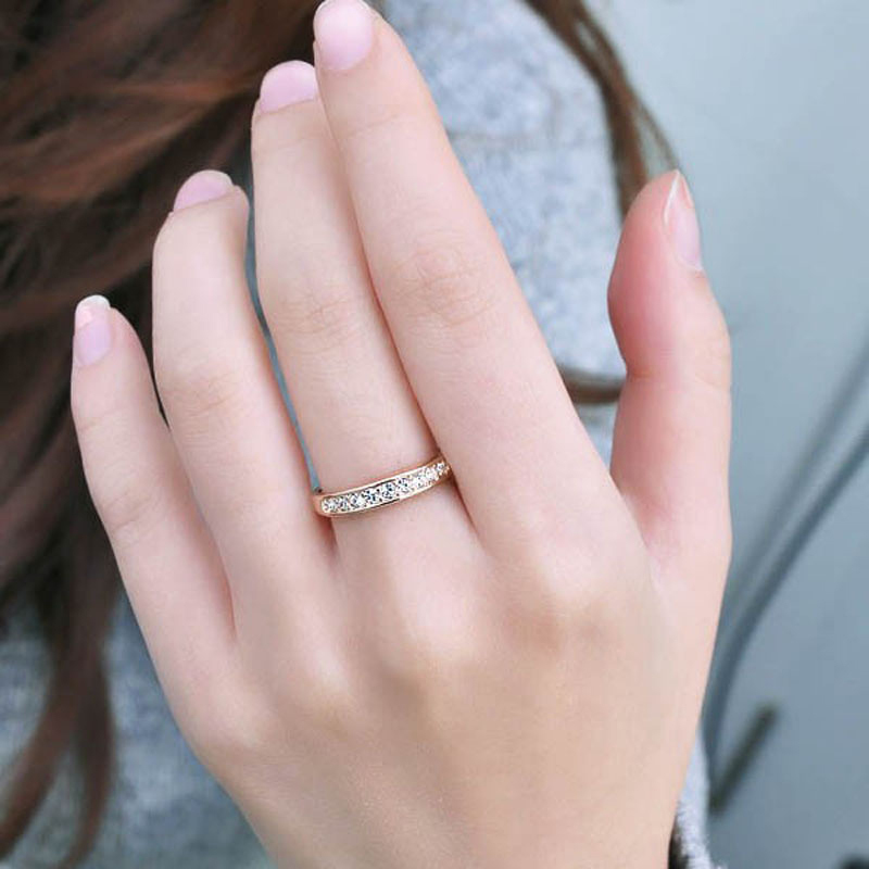New Style Fashion Korean Personality Simple Circle Gold Silver