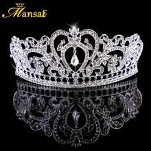 Crystal Bride Waterdrop Crown Women Rhinestone Headband Tiara Cheap Bride Hair Jewelry Wedding Jewelry Hair Accessories HG302