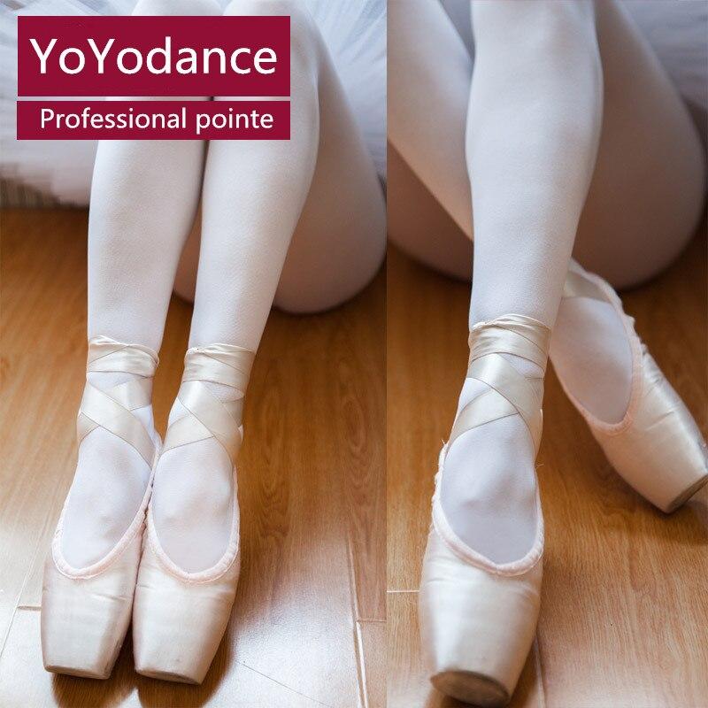 4c92ff810 الفتيات النساء المهنية قماش الباليه بوانت أحذية الرقص الملكي الوردي الباليه  تدرب حذاء اصبع القدم حذاء