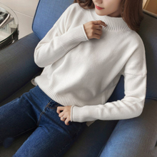 New Fashion Women Sweater High Elastic Solid Turtleneck Slim Tight Bottoming Knitted Pullovers