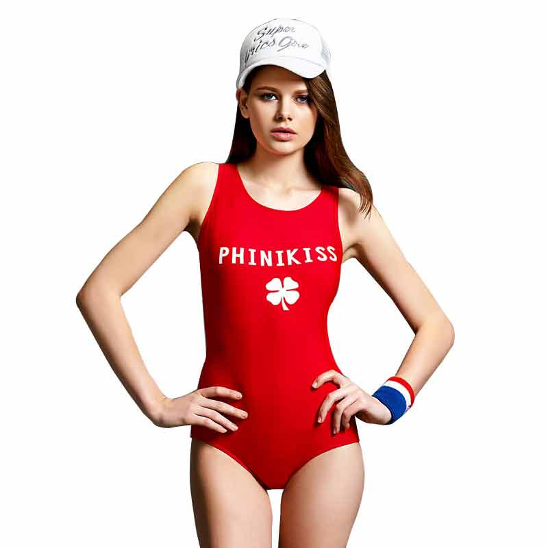Sexy Beach Sports Racing Triangular One-piece Swimsuit Woman Letter Hot Spring Bathing Suit Outdoor sports competition racing one piece swimsuit