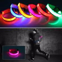 6 Colors Night Running Arm Lamp Outdoor Sports Safety Jogging Riding LED Arm Leg Reflective Warning Wristband Lamp(China)