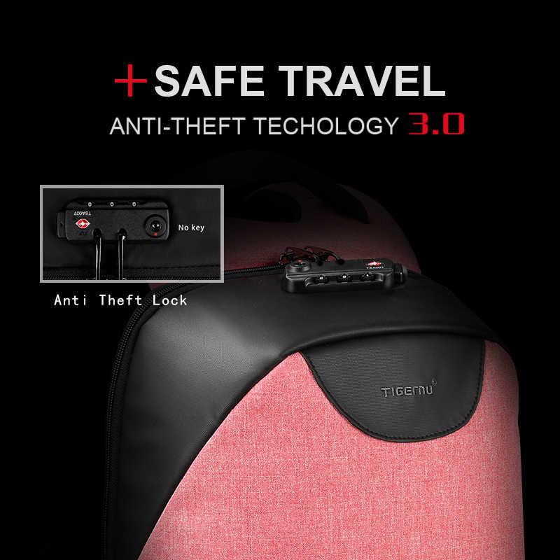 Tigernu Для женщин рюкзак Anti Theft TSA замок рюкзак для ноутбука USB зарядка школьная сумка для девочек-подростков женские рюкзаки Bagpack