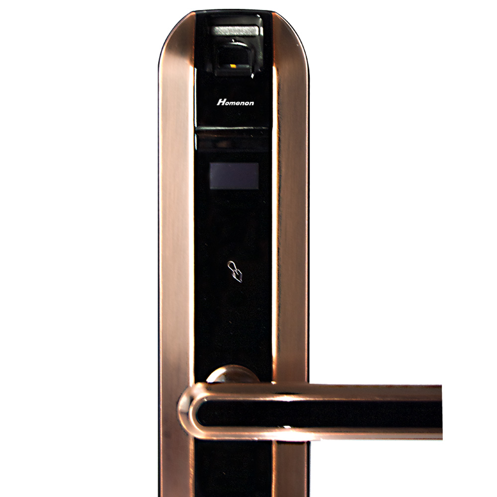 Homenon отпечатков пальцев включен биометрической идентификации RFID Smart Ezon замок двери HLO-Y31 + 5 шт. Rfid-карт (бронзовый цвет)