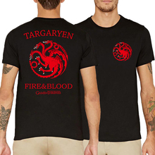 targaryen fire & blood letters printed t-shirts Game of Thrones short sleeve camisetas men fashion 2017 summer fitness tops tees