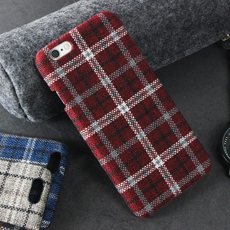 d28f6b9941 Plaid cloth Phone cases for Apple iPhone 6 case Ultra thin Hard back cover  for iPhone