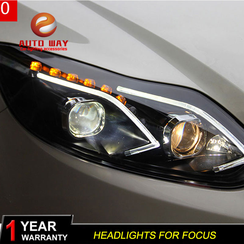 Estuche para Ford Focus 2012-2014 Faros delanteros LED Faros - Luces del coche - foto 6