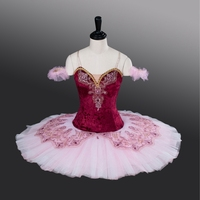 Adult Elastic Velvet Fabric Burgundry Ballet Tutu Girls 10 Layers Professional Ballet TutusATS9001 High Quality Cheap Tutu Dress