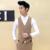 O novo 2017 boutique de moda cor de algodão puro dos homens do noivo vestido de noiva ternos colete colete/Masculino magro do terno de negócio colete