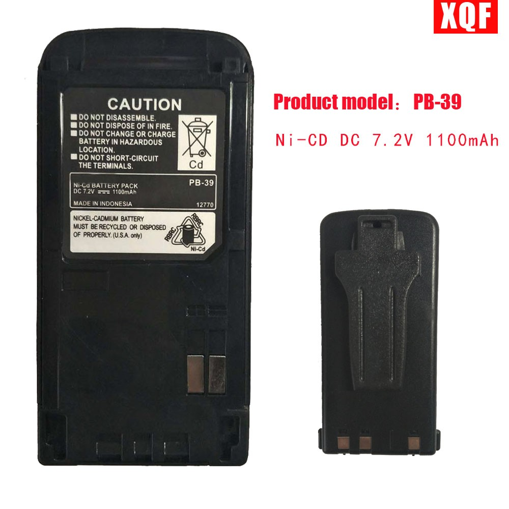 XQF PB-39/PB-39H Ni-CD DC 7.2V 1100mAh Battery For KENWOOD Radios TH-D7A TH-D7E TH-G71A TH-G71E