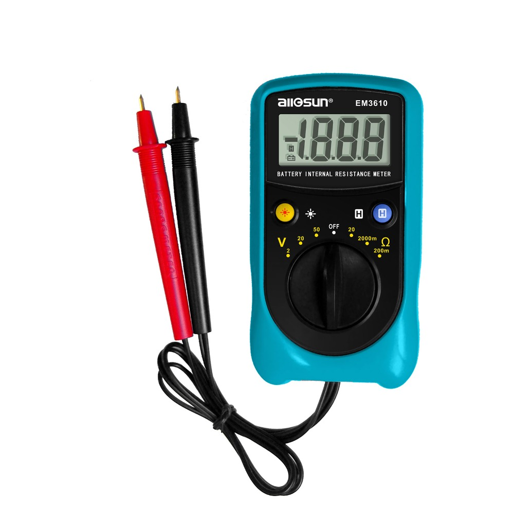 all sun EM3610 Battery Internal Resistance Meter Battery Voltage Temperature Coefficient automotive tester