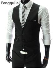 New Arrival Dress Vests For Men Slim Fit Mens Suit Vest Male Waistcoat Gilet Homme Casual Sleeveless Formal Business Jacket showersmile mens double breasted vest suit black dress waistcoat for men slim fit sleeveless jacket male spring autumn gilet