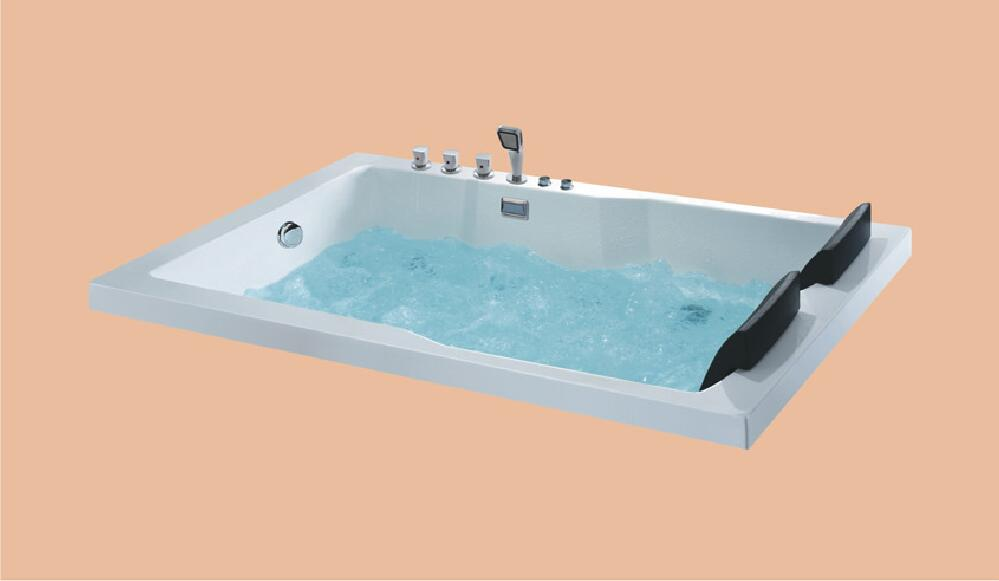 1800mm Fiberglass Drop-in whirlpool Bathtub Acrylic Hydromassage Embedded Surfing Tub NS6015