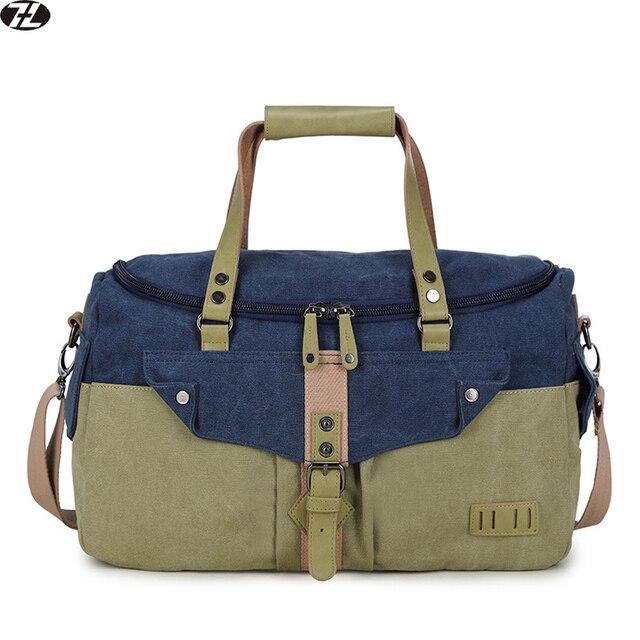 Homens viajam sacos de lona de grande capacidade de alta qualidade bolsa ocasional dos homens crossbody mochila saco dos homens do vintage sacos de ombro mensageiro