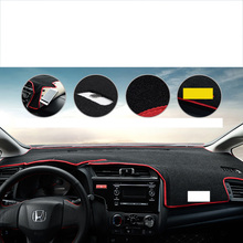 Lsrtw2017 polyster car dashboard mat for honda fit 2014 2015 2016 2017 2018 2019