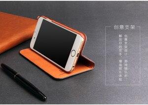 Image 4 - Fierre Shann Samsung Galaxy S8 artı S8 inek derisi Flip Case hakiki deri iPhone Xs için X 8 artı 6s 6 7 artı kickstand kapak