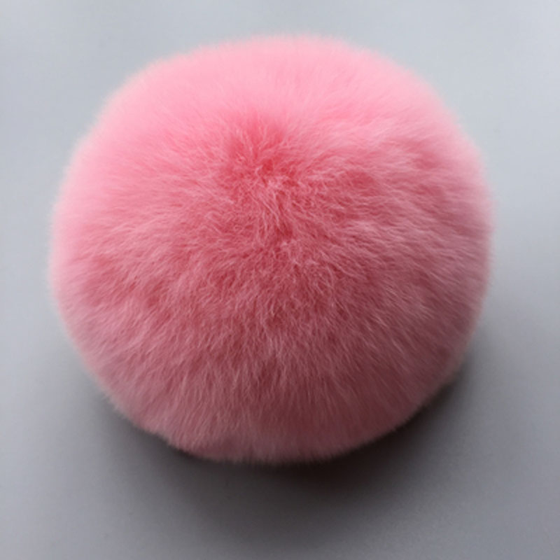 Felyskep Wholesale Keyhains Accessory Real Rabbit Fur Ball Pom Pom Plush Bag Car Pendant Key Chain A642WA