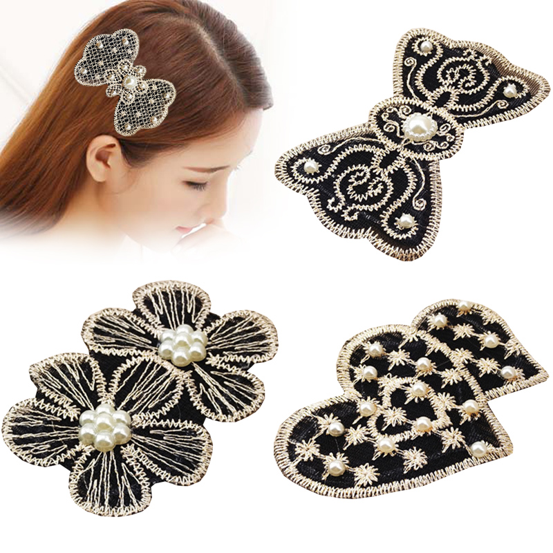 Women's Hair Accessories Diplomatic 1 Pcs Woman Lovely Cute Bow Knot Fashion Hair Accessories Four Colors Headbands Wide Hoops Lace Special Design Headwear Exquisite Traditional Embroidery Art