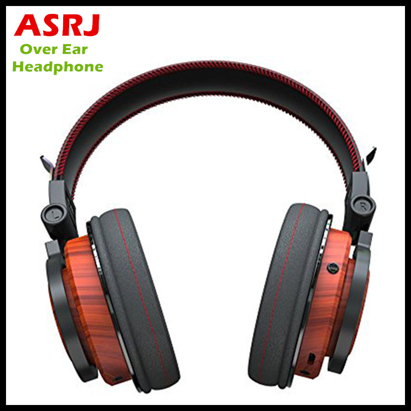 2017 New ASRJ WT-01 Over Ear Wooden Headphones With Share Function Foldable Wireless Genuine Wood Headphone Bluetooth V4.1