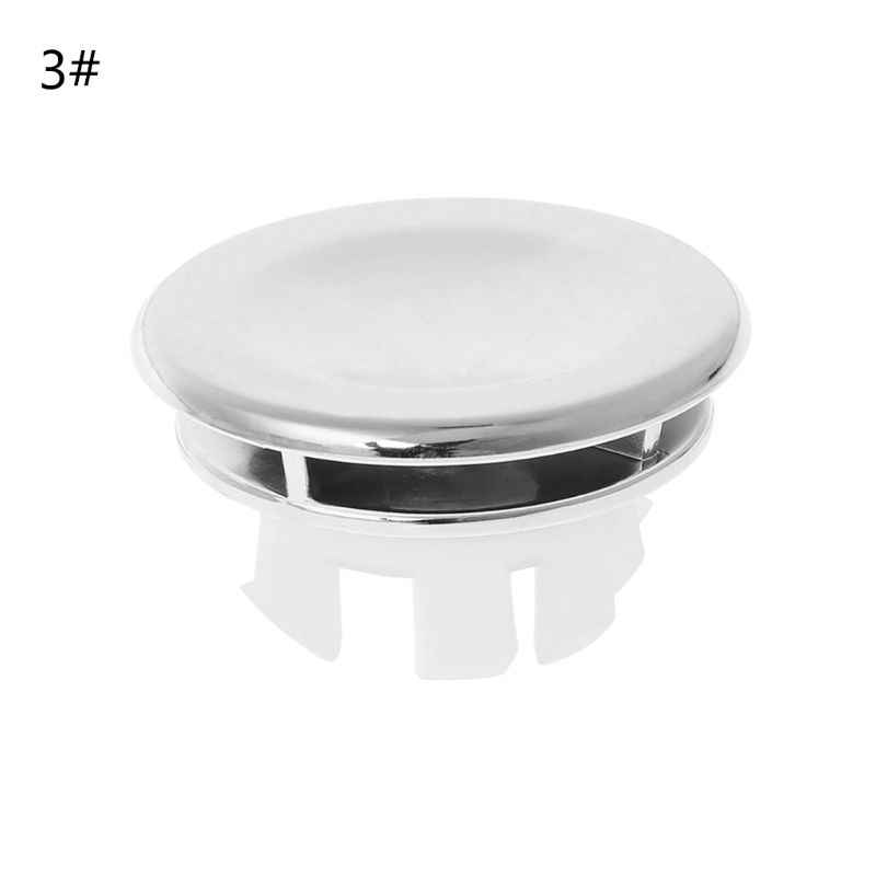 Bathroom Basin Sink Overflow Ring Six-foot Round Insert Chrome Hole Cover Cap J6PD