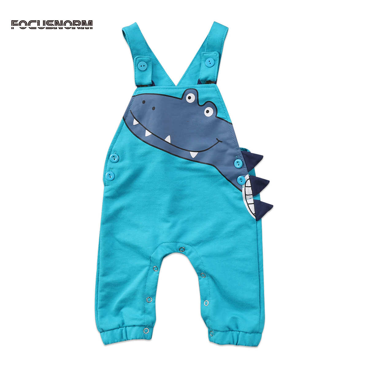 ab6c4a864263 Toddler Infant Baby Boys Girls Dinosaur Cartoon Suspenders Romper Overalls  Cotton Jumpsuit Outfits Clothes
