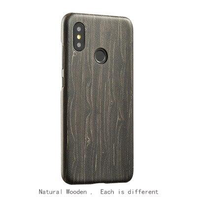 Étui de téléphone pour xiaomi mi8, mi8 se, MI8 Explorer, MI8 PRO étui en bambou/noyer/bois de rose/bois de glace noir/coquille