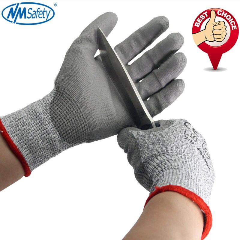NMSafety порезостойкие перчатки Hppe анти-Cut перчатки Рабочая защитная износостойкие безопасные рабочие перчатки