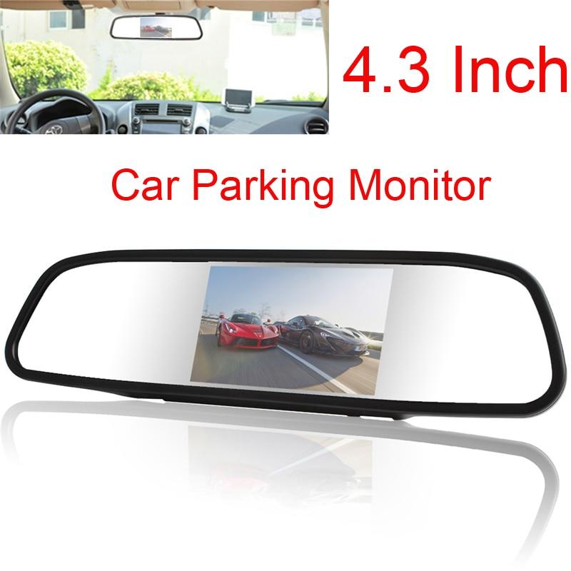Universaalne auto 4.3 Digitaalne TFT LCD peegel Autode parkimise - Autode Elektroonika - Foto 1