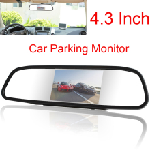 New Univeral 4.3 Inch Color TFT LCD Parking Car Rear View Mirror Monitor 4.3'' Rearview Monitor for Backup Reverse Camera цена